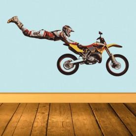 Vinilo ilustración motocross