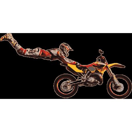 Vinilo decorativo ilustración motocross