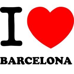 Vinilo i love Barcelona