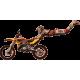 Vinilo decorativo ilustración motocross INVERTIDO