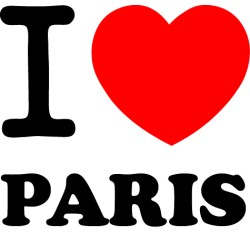 Vinilo i love Paris