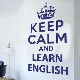 Vinilo Keep calm learn english