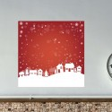 Vinilo postal navideña