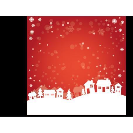 Vinilo decorativo postal navideña