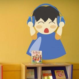 Vinilo niño auriculares