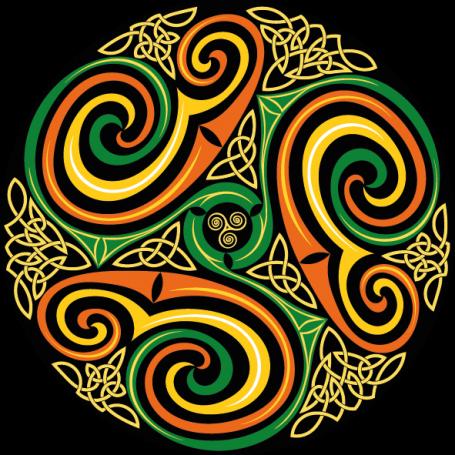 Vinilo decorativo círulo celta