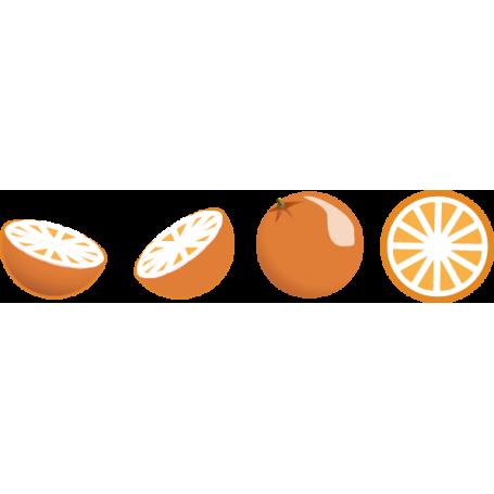 Vinilos decorativos naranjas