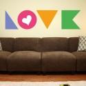 Adhesivo Love colores