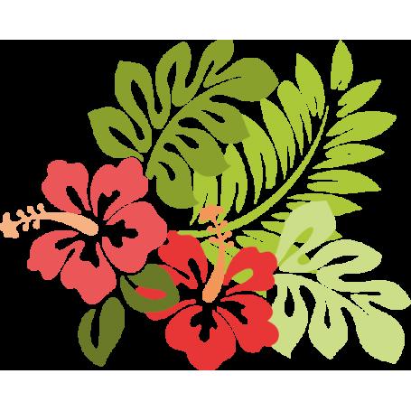 Vinilo decorativo flores hawaianas