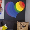 Vinilo corazón LGBT