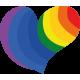 Vinilo decorativo corazón LGBT