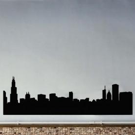 Vinilo silueta Chicago