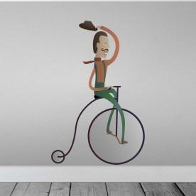 Vinilo bicicleta antigua