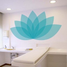 Vinilo flor de loto azul