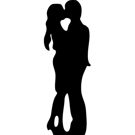 Vinilo decorativo novios besándose