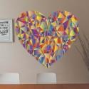 Vinilo corazón geométrico