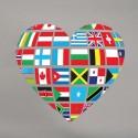 Vinilo corazón bandera