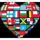 Vinilo decorativo corazón bandera