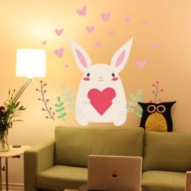 Vinilo conejo amor