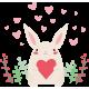 Vinilo infantil conejo amor