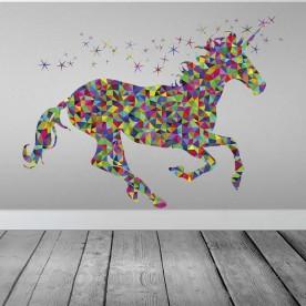 Vinilo unicornio geométrico