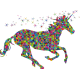 Vinilo decorativo unicornio geométrico