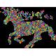 Vinilo decorativo unicornio geométrico INVERTIDO