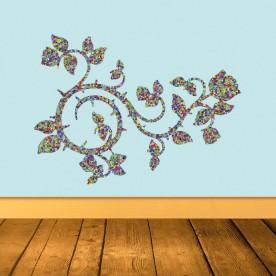 Vinilo floral geométrico