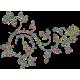 Vinilo decorativo floral geométrico