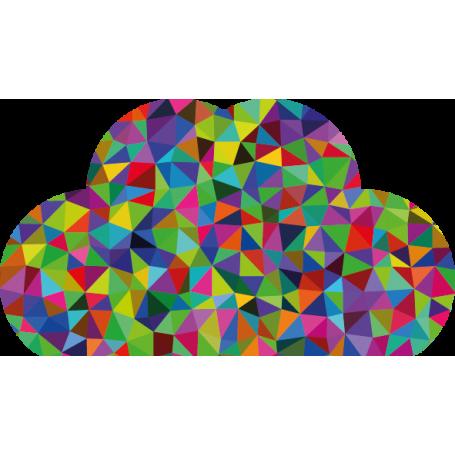 Adhesivo decoración nube geométrica