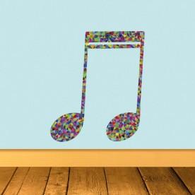 Pegatina nota musical geométrica
