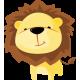 Vinilo decorativo infantil león