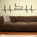 Vinilo gato electrocardiograma