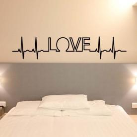 Vinilo electrocardiograma love