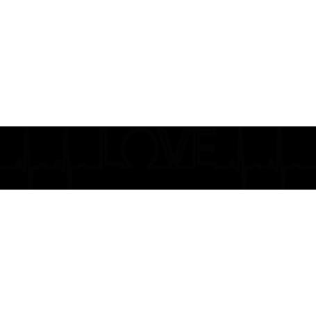 Vinilo adhesivo electrocardiograma love