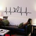 Vinilo electrocardiograma perro