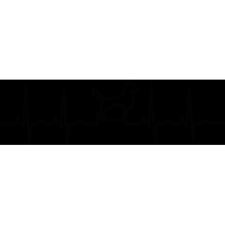 Vinilo adhesivo electrocardiograma perro
