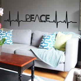 Vinilo electrocardiograma peace