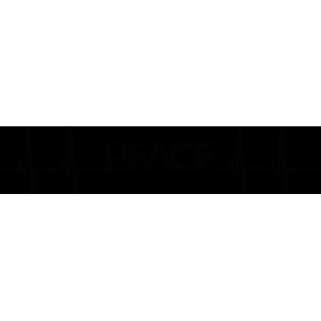Vinilo adhesivo electrocardiograma peace