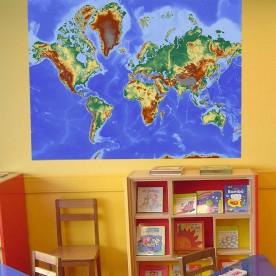 Vinilo decorativo mapa mundi geográfico