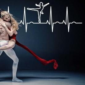 Vinilo electrocardiograma ballet