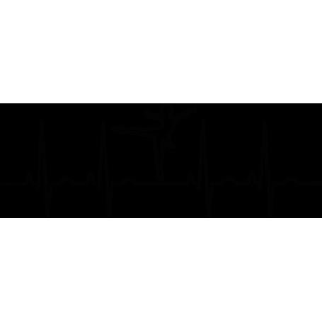 Vinilo pared electrocardiograma ballet