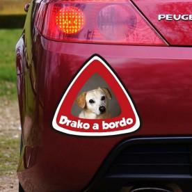 Pegatina perro a bordo personalizada