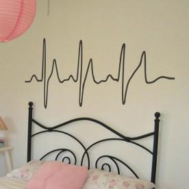 Pegatina electrocardiograma