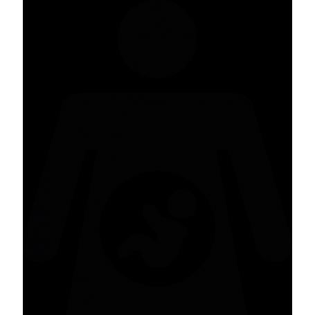 Vinilo decorativo embarazada