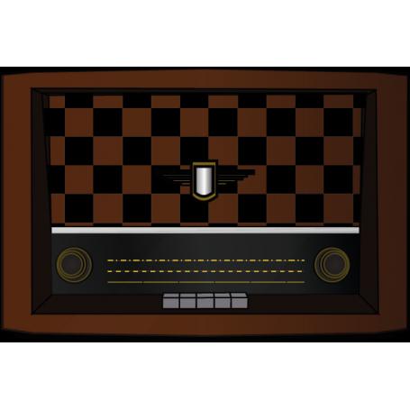 Vinilo pared vieja radio