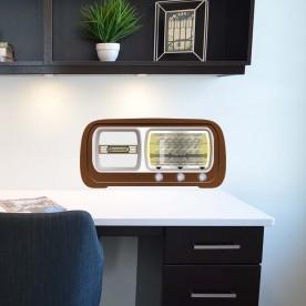 Vinilo pared radio antigua