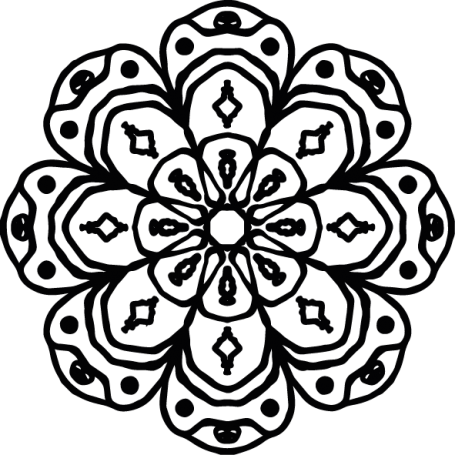 Vinilo decorativo floral étnico