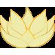 Vinilo decorativo loto flor