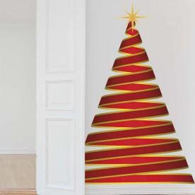 Vinilo árbol Navidad espiral